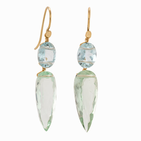 Spike ii aquamarine earrings