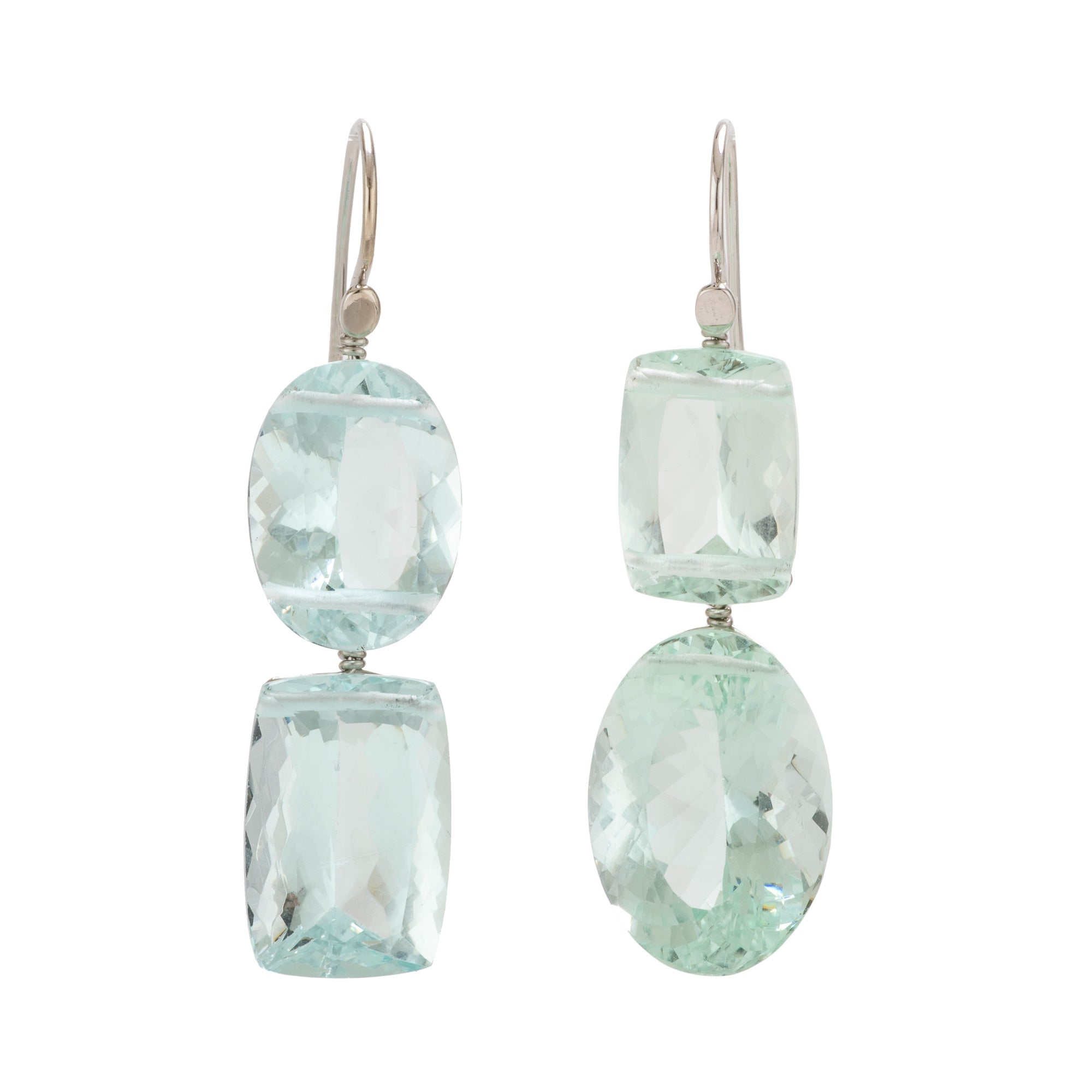 Flip ii aquamarine earrings