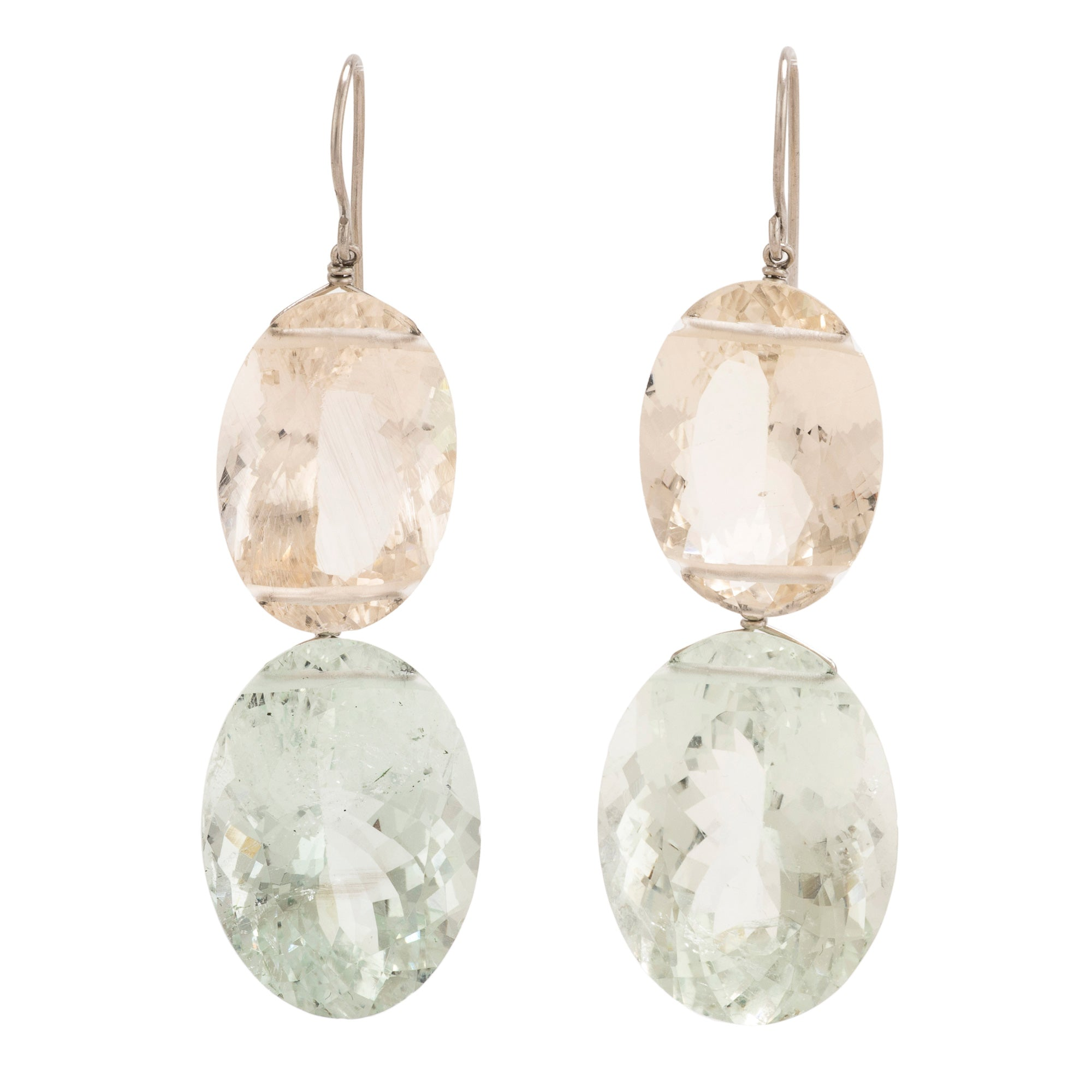OVAL II aquamarine earrings