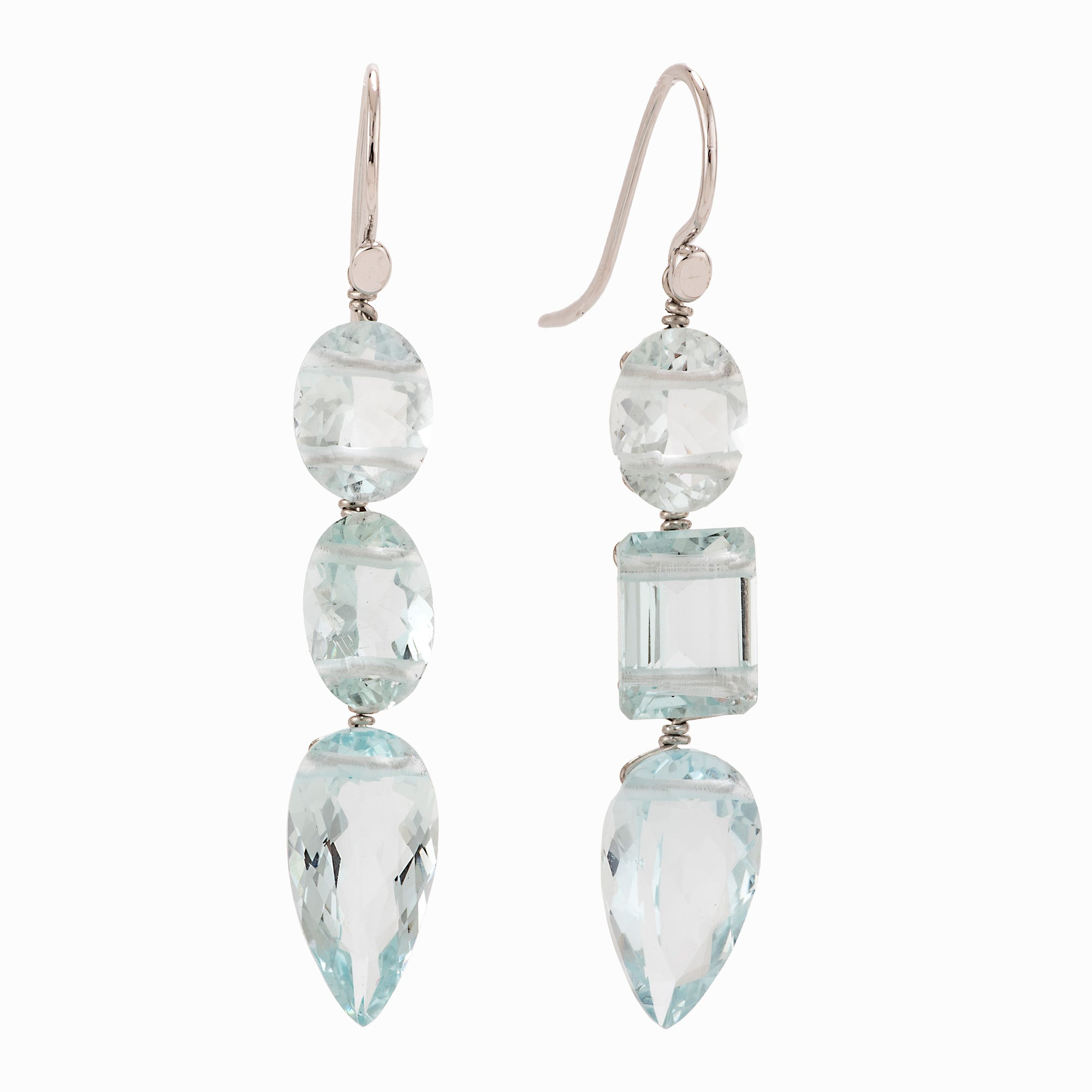 Shimmer III aquamarine earrings