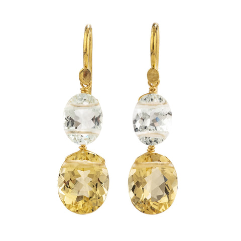 Glimmer ii golden beryl earrings