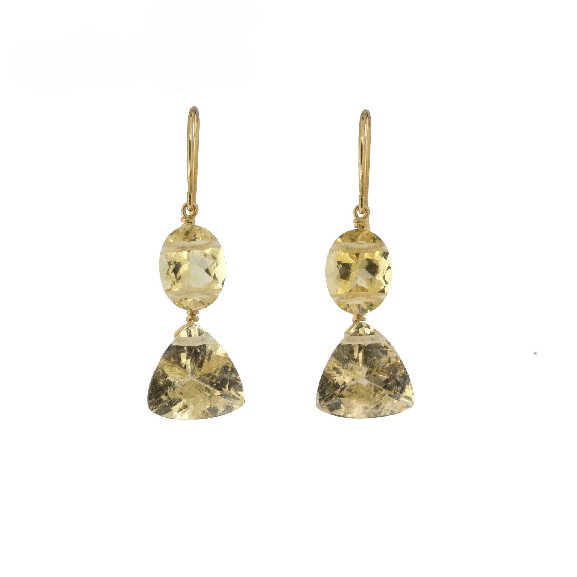 GABRIELLE II Golden Beryl Earrings