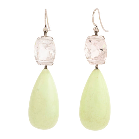 Citron II chrysoprase earrings