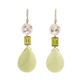 Citron III chrysoprase earrings