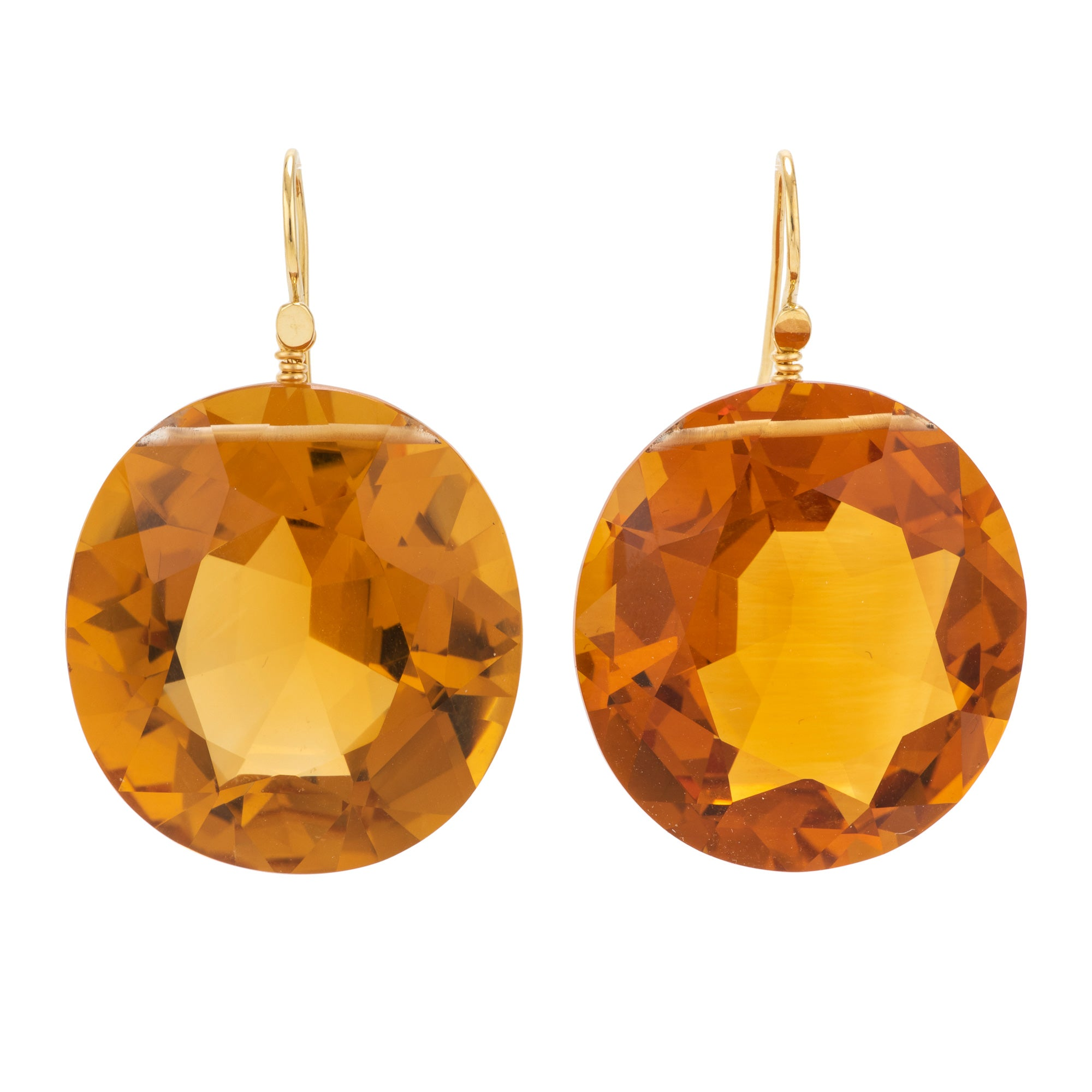 OVAL I citrine earrings