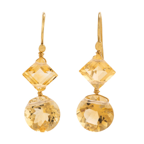 VAR II citrine earrings