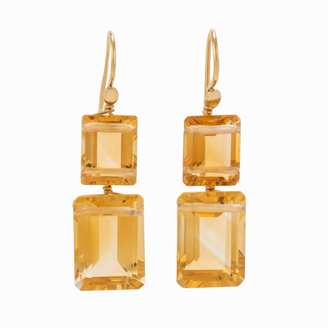 Flapper II citrine earrings