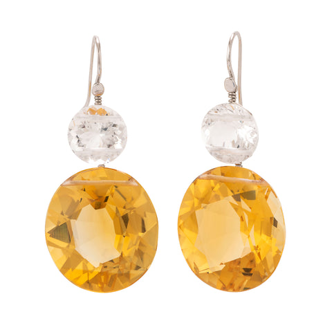 Oval II citrine earrings