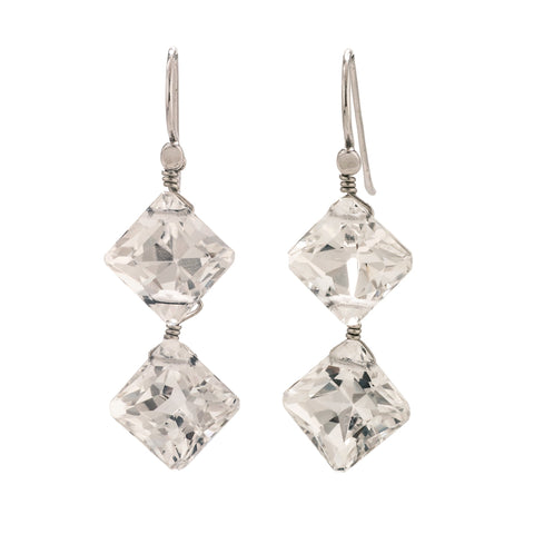 Diamond II kunzite earrings