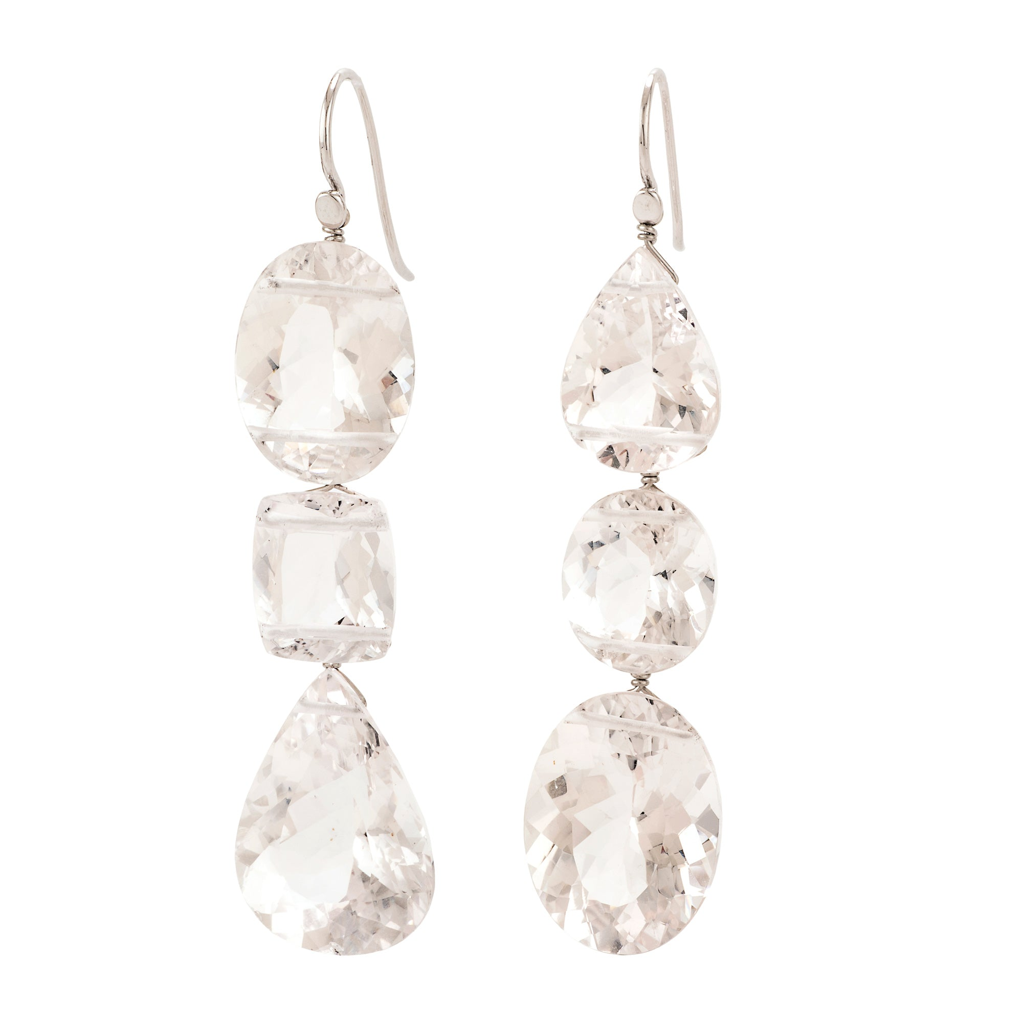 Shimmer III morganite earrings