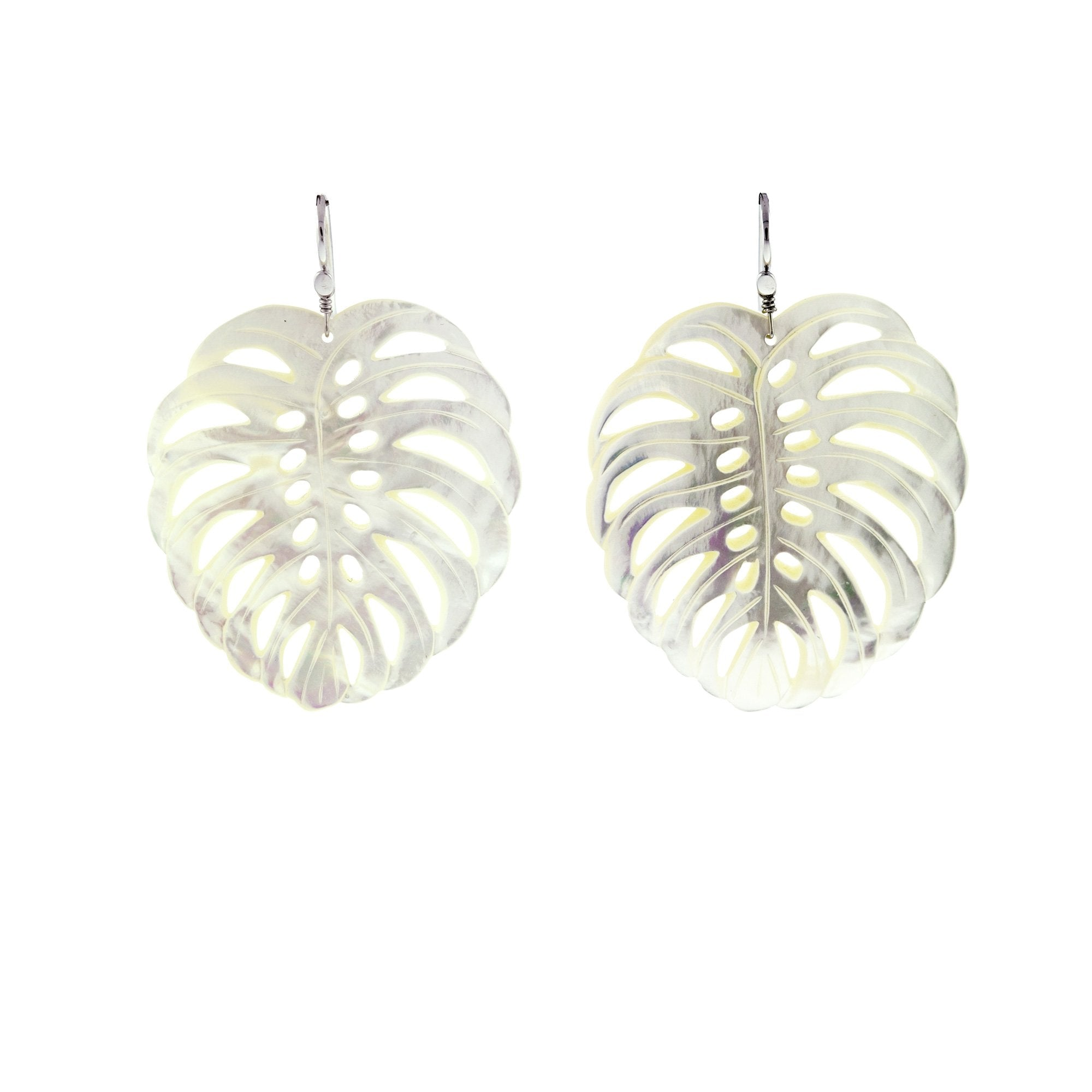 frond I pearl earrings