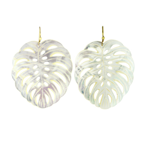 frond I mother of pearl earrings