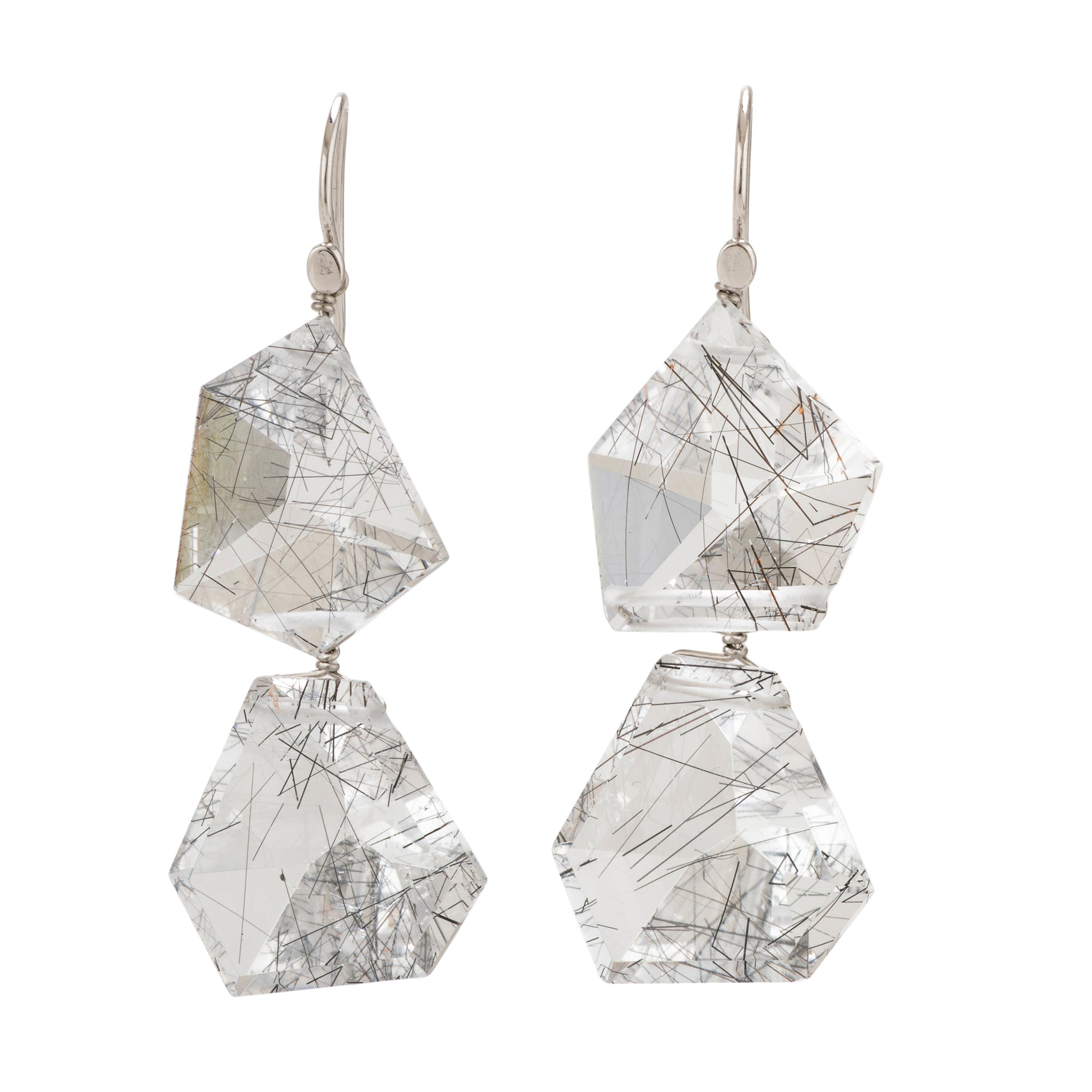 Freeform ii quartz earrings