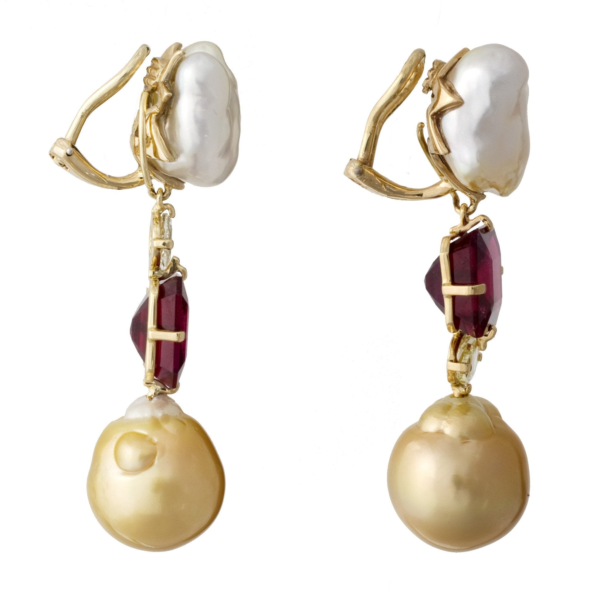 annoushka white pearl pearls us gold earrings golden south sea