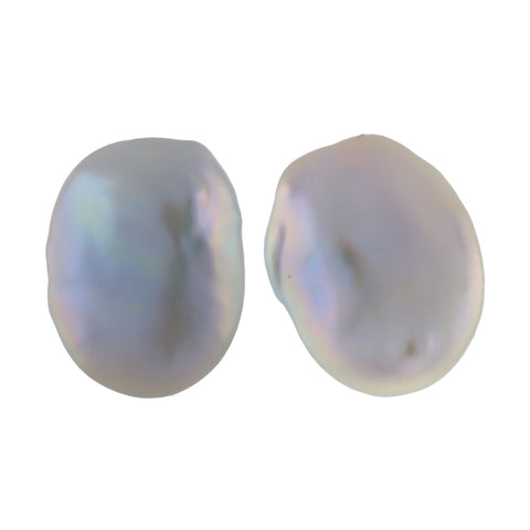 DISK I pearl earrings