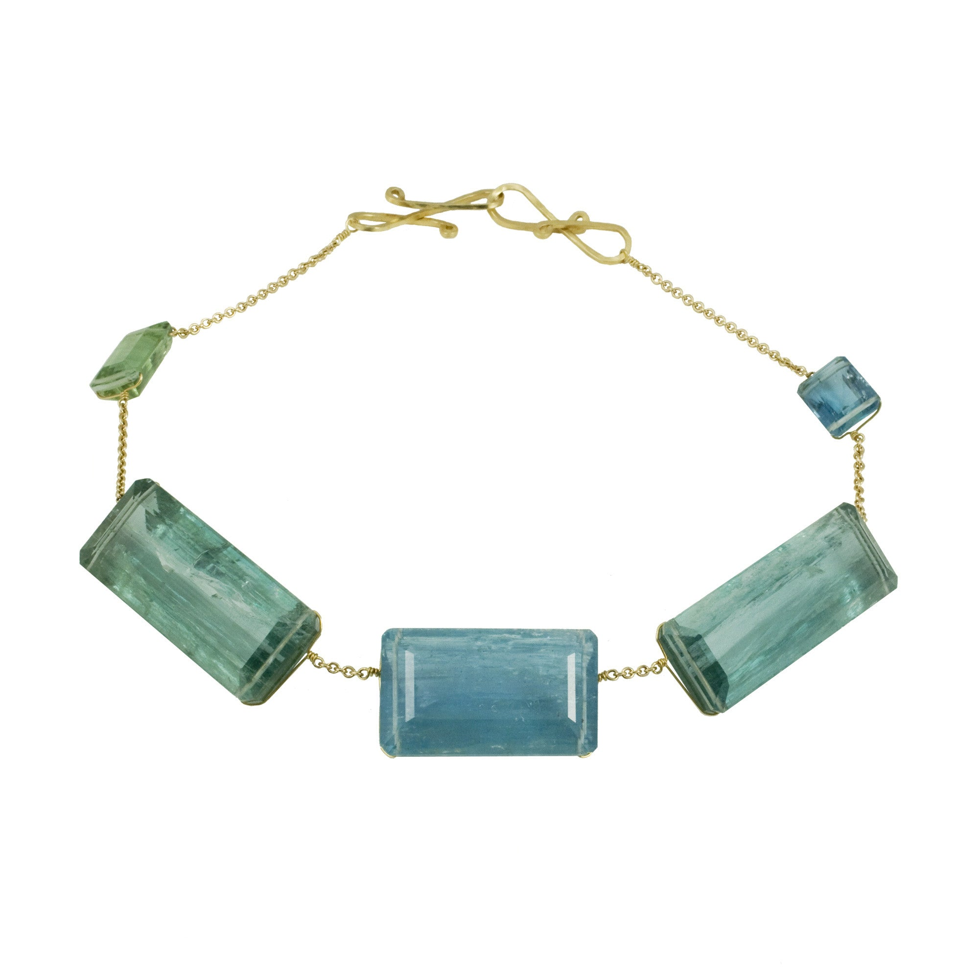 GRACE V aquamarine necklace