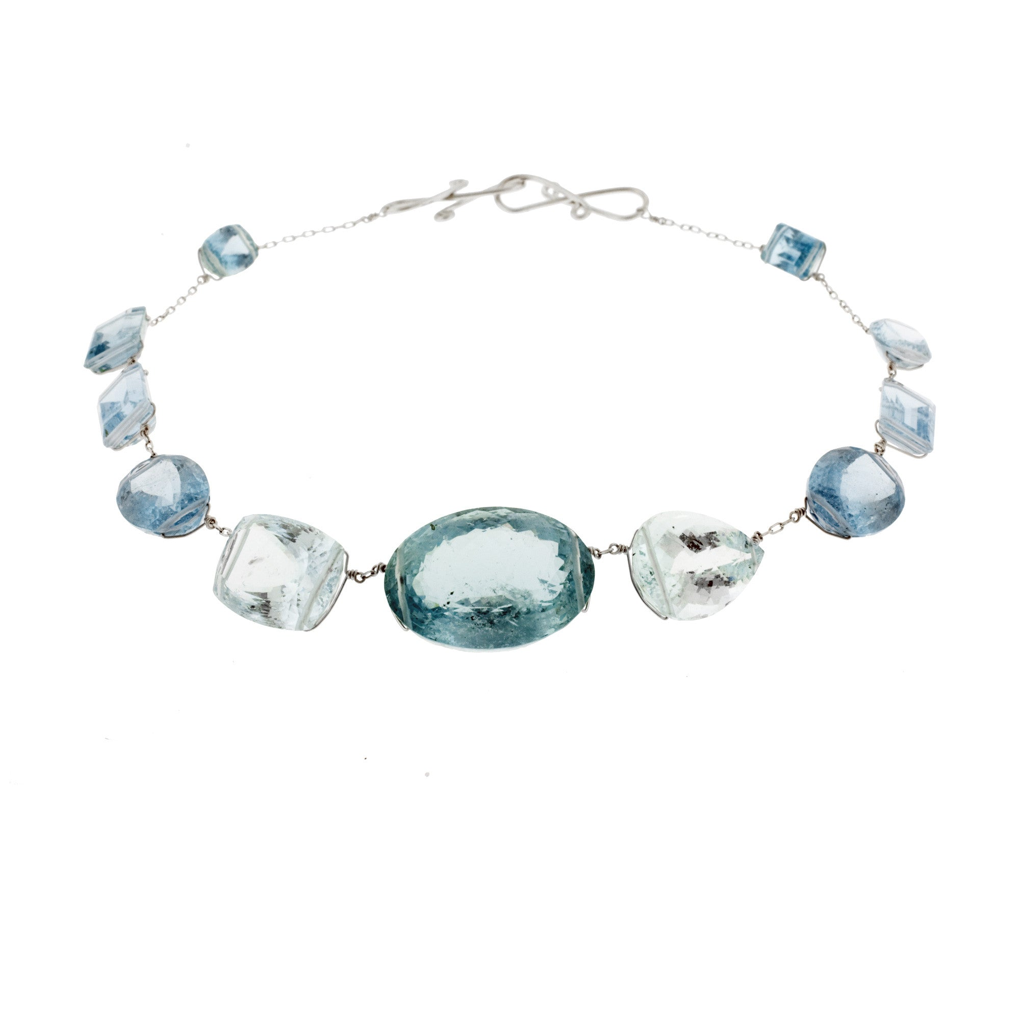 gold bracelet aquamarine milky jewelry lyst bangle station gallery product in ippolita