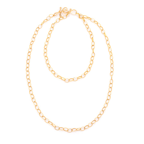 Open gold link necklace