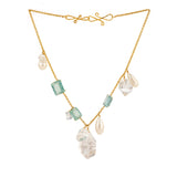 Flood XI aquamarine herkimer necklace