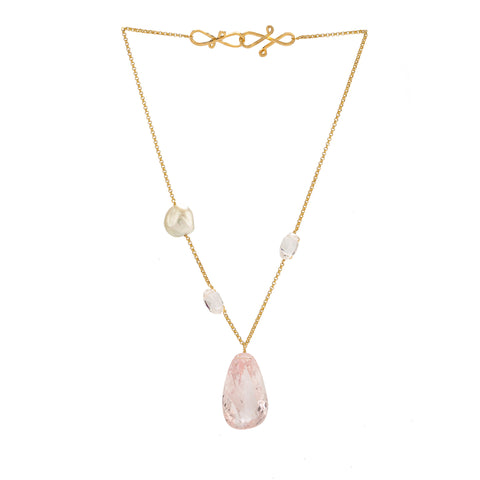HAYDEE IV morganite necklace