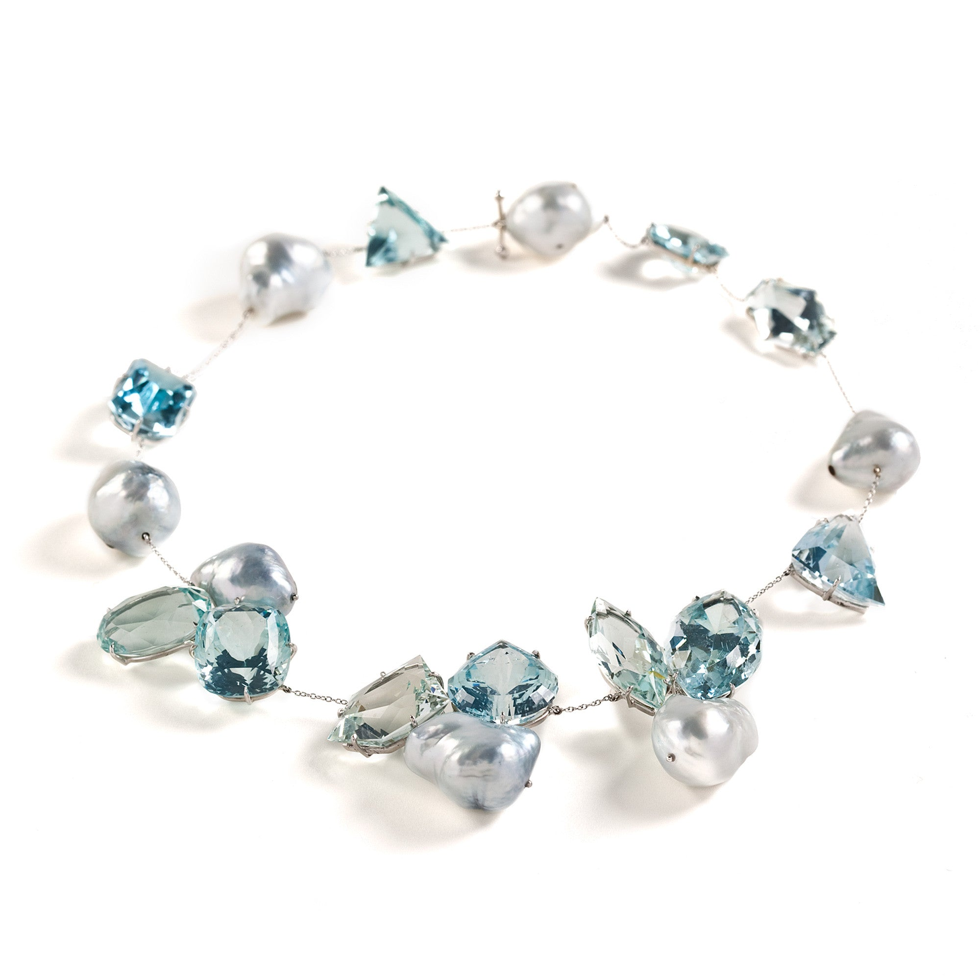 SNOW XVIII topaz necklace