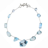 SNOW xi topaz necklace