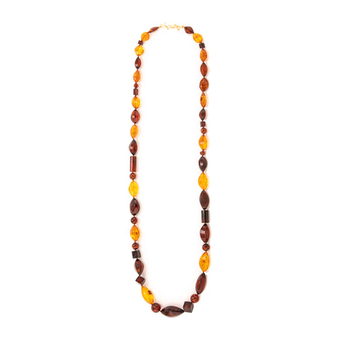 Rope 49 amber necklace