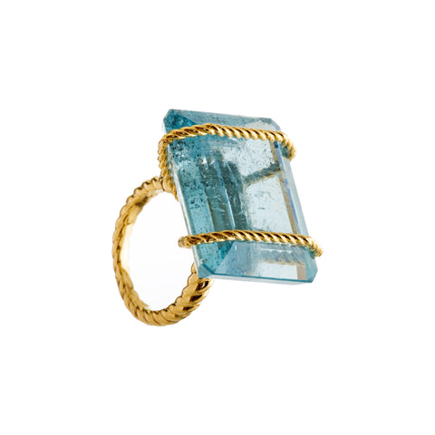 GREEK I aquamarine ring