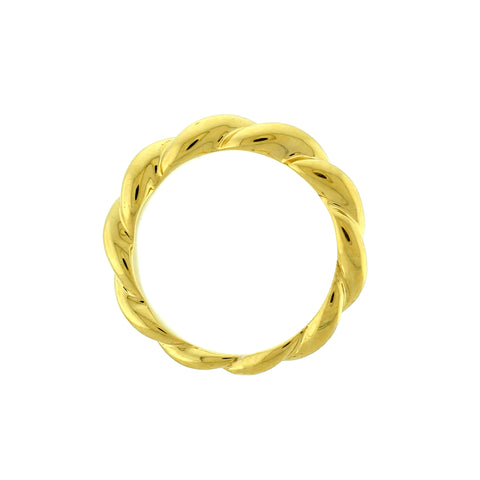 Twist 18k gold ring