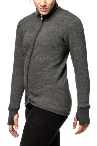 TURTLENECK SWEATER WITH FULL ZIPPER - 400 g/m2