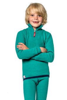 Woolpower Kids Short Zip Turtleneck 200 gram