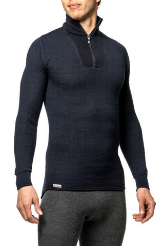 TURTLENECK WITH SHORT ZIPPER - 200 g/m2