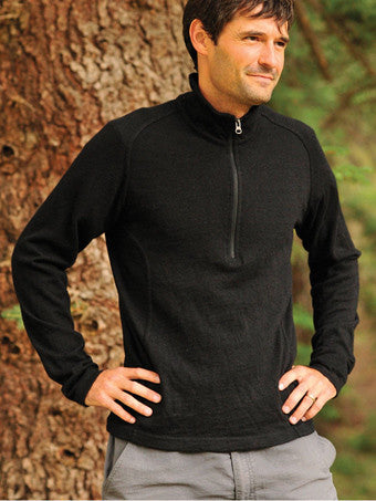 Llama Wool Altiplano  Half-Zip Knit Sweater