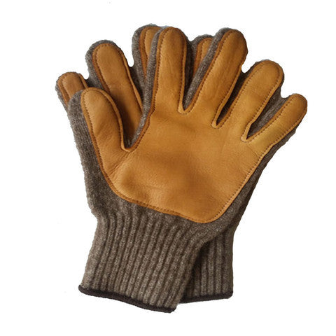 American Bison - Bison/Merino Blend Gloves with leather palms