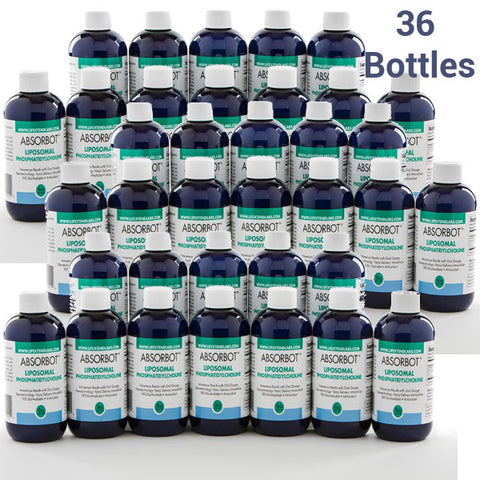 36 Bottles (Distributor Price) Absorbot™ Liposomal Phosphatidylcholine (50% off)