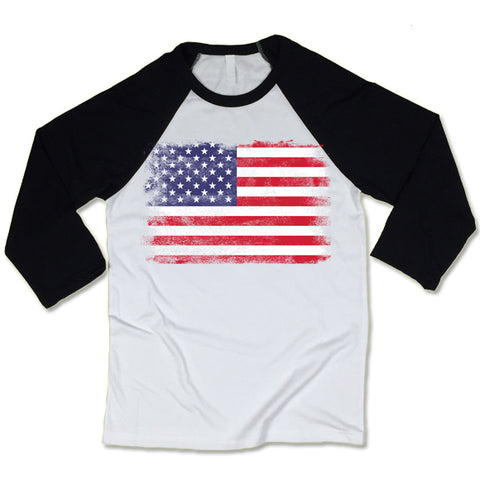 American Flag Baseball Shirts