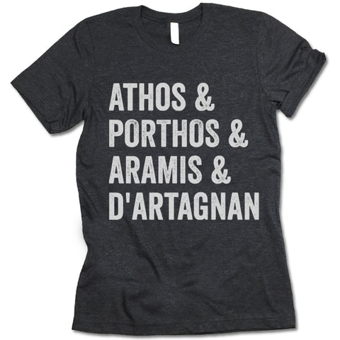 Athos and Porthos and Aramis and D'artagnan T-Shirt