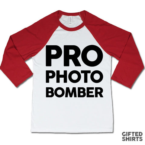 Pro Photo Bomber Baseball T-shirt