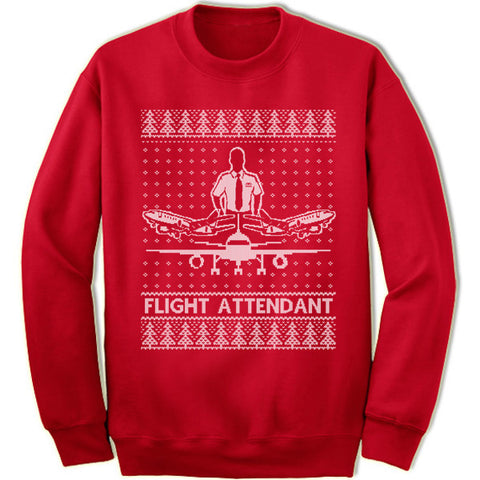 Flight Attendant Christmas Sweatshirt