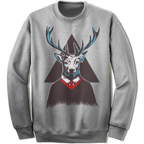 Hipster Deer Christmas Sweatshirt
