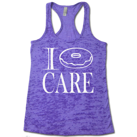 I Donut Care - Racerback Burnout Tank Top