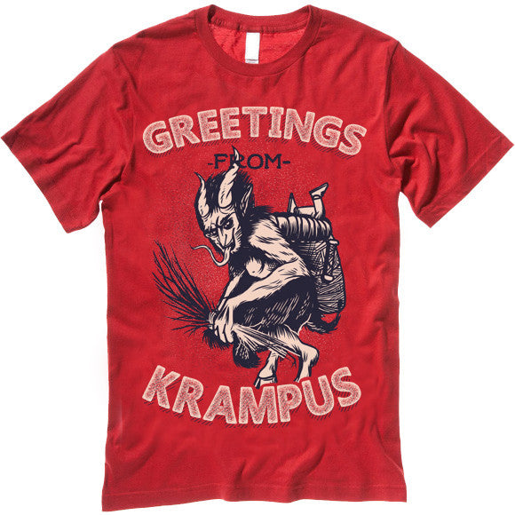 Christmas Greetings From Krampus T Shirt Gifted Shirts