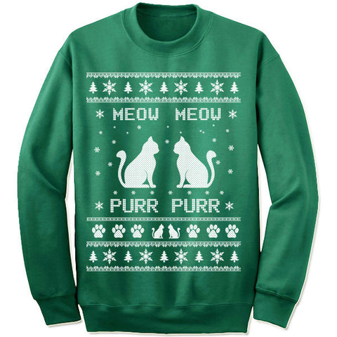 Meow Meow Purr Purr Christmas Sweater