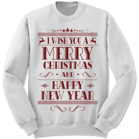 Merry Christmas and Happy New Year Sweater