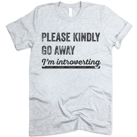 Please Kindly Go Away I'm Introverting T Shirt