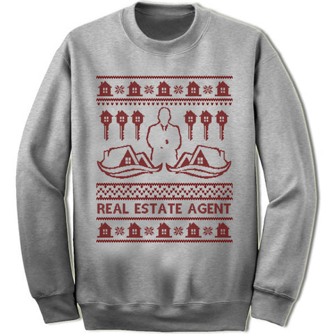 Real Estate Agent Christmas Sweatshirt