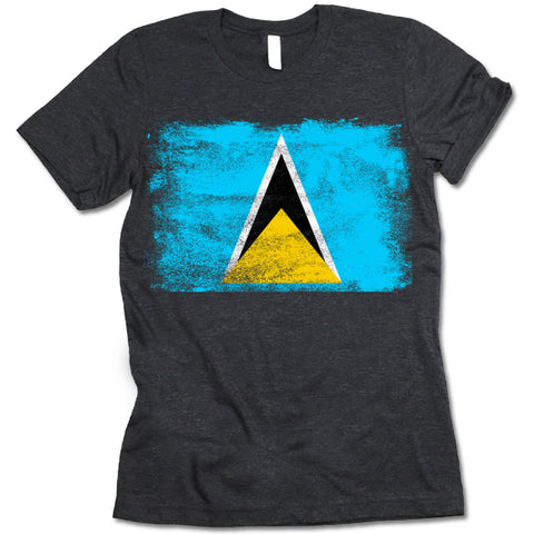 Saint Lucia Flag T-shirt
