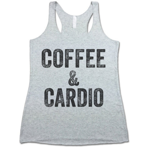 Coffee and Cardio Women's Tri-Blend Racerback Tank Top