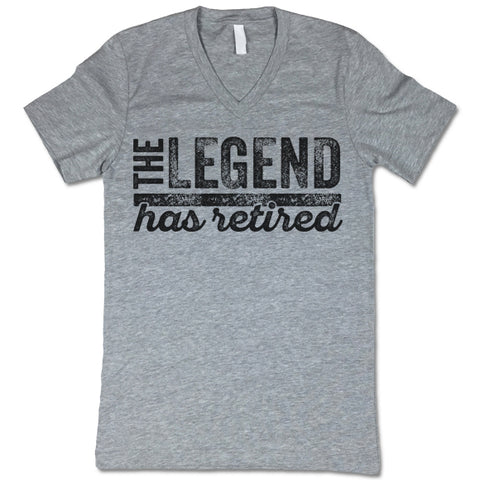 The Legend Has Retired V-Neck T-Shirt