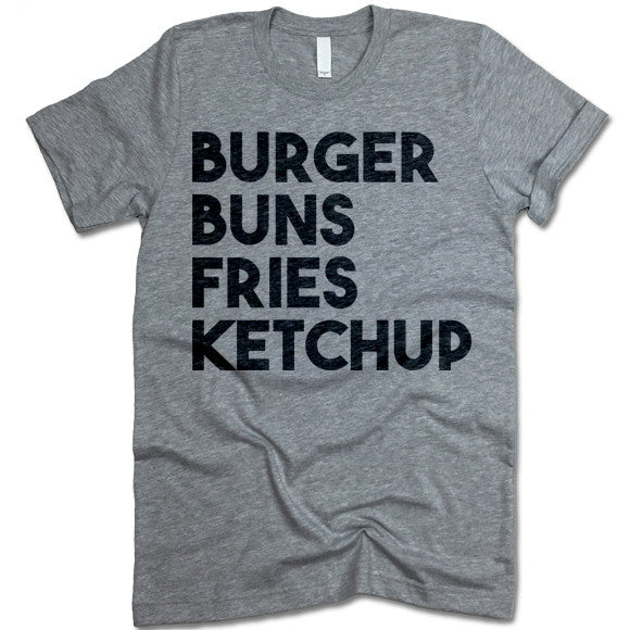 Burger Buns Fries Ketchup Crewneck Tee
